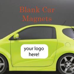 Blank White Vinyl Car Magnets