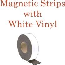 White Vinyl Magnetic Strips