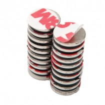 """Rare Earth Neodymium Magnets with Adhesive - .5"""" Round"""