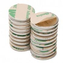 """Rare Earth Neodymium Magnets with Adhesive - 1"""" Round"""