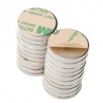 "Rare Earth Neodymium Magnets with Adhesive - .75"" (3/4"") Round - Set of 20"
