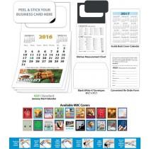 Magnetic Business Card Calendar Pad - January Start Date