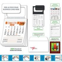Magnetic Business Card Calendar Pad - October Start Date
