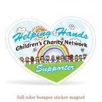 5x3.875 Heart Bumper Sticker Magnet - Full Color