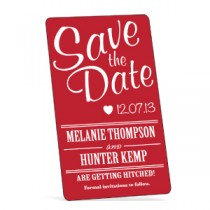 "Custom Save the Date Magnet - 2"" x 3.5"" Rectangle"