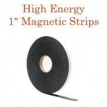 "High Energy Outdoor Adhesive Magnetic Strips- 1"" x 100' - 60 mil"