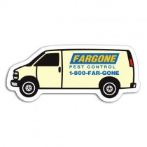 "Personalized Van Magnet 1.625"" x 3.8125"""