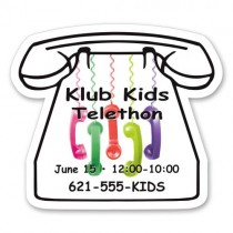 "Personalized Telephone Shaped Fridge Magnets 2.1875"" x 2.5"""