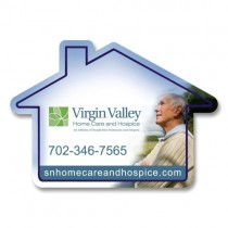 "Personalized House Shaped Fridge Magnet 2.4375"" x 3.4375"""