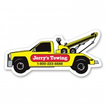 "Tow Truck Shaped Magnet 3"" x 2.125"""