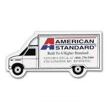 "Personalized Moving Truck Magnet 1.5625"" x 3.5"""
