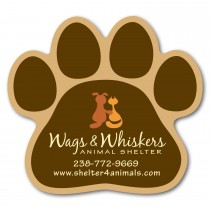"Paw Print Shaped Magnet 2.75"" x 3"""
