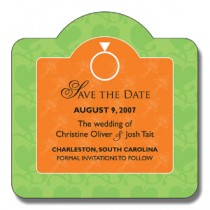 "Custom Save the Date Magnet - 3"" x 3"" Circle Top"