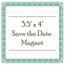 "Custom Save the Date Magnet - 3.5"" x 4"" - Round Corners"