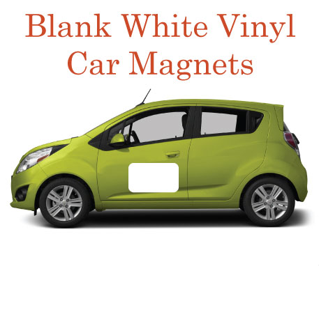 Blank White Vinyl Car Magnets