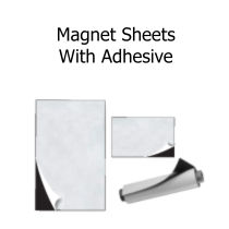 Magnetic Sheets and Rolls with Adhesive