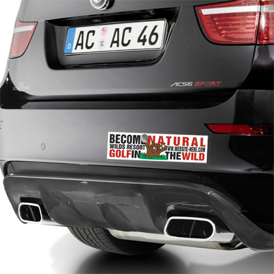 Printed Car Magnets Magnetic Bumper Stickers On Emagnetscom - Custom car bumper stickers