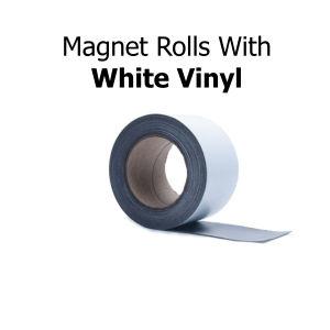 White Vinyl Magnetic Strips