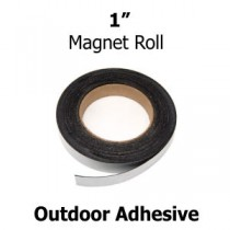 "1 Inch Outdoor Adhesive Magnet Strips- 1"" x 100' - 60 mil"