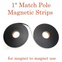 "Match Pole Outdoor Adhesive Magnetic Strips - 1"" x 100' - 60 mil"