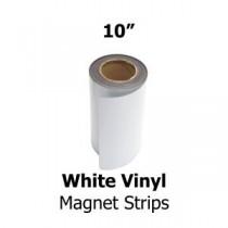 """White Vinyl Magnetic Strips - 10"""" x 50'"""