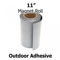"11 Inch Outdoor Adhesive Magnet Strips- 11"" x 50' x 30mil"