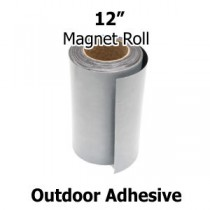 "12 Inch Outdoor Adhesive Magnet Strips- 12"" x 50' x 30mil"