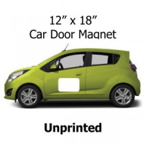 12 x 18 Car Door Magnets Unprinted
