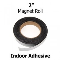 2 Inch Magnetic Strips- Indoor Adhesive