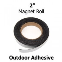 "2"" Inch Outdoor Adhesive Magnet Strips- 2"" x 50' - 30 mil"