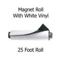 25 foot magnet roll white vinyl