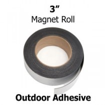 "3 Inch Outdoor Adhesive Magnetic Strips- 3"" x 50'"