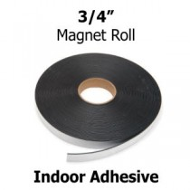 "Indoor Adhesive Magnetic Strips- .75"" x 100' - 60 mil"