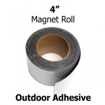 "4 Inch Outdoor Adhesive Magnet Strips- 4"" x 50'"