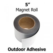 "5 Inch Outdoor Adhesive Magnetic Strips- 30mil x 5"" x 50'"