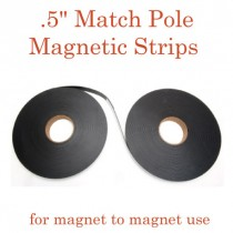 "Match Pole Outdoor Adhesive Magnetic Strips- .5"" x 100' - 60 mil"