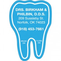 "Personalized Tooth Shaped Magnet 1.75"" x 2.5"""