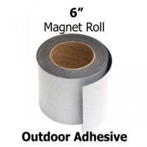 "6 Inch Outdoor Adhesive Magnetic Strips- 30mil x 6"" x 50'"