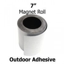 "7 Inch Outdoor Adhesive Magnetic Strips- 30mil x 7"" x 50'"