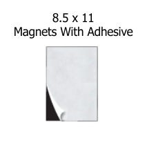 8.5 x 11 Magnet Sheet With Adhesive