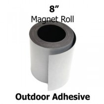 "8 Inch Outdoor Adhesive Magnet Strips- 8"" x 50' x 30 mil"