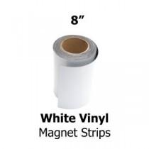 """White Vinyl Magnetic Strips - 8"""" x 50'"""
