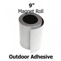 "9 Inch Outdoor Adhesive Magnet Strips- 9"" x 50' x 30mil"