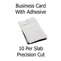 Adhesive Business Card Slabs 10-up