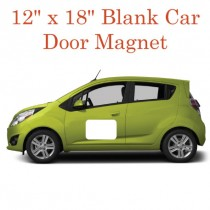 "Blank White Car Door Magnets 12"" x 18"""