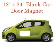 "12"" x 24"" Blank White Car Door Magnets"
