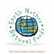 4.25 Circle Bumper Sticker Magnet - Full Color
