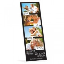 "Custom Save the Date Magnet - 2"" x 6"" Rectangle"