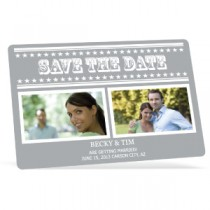 "Custom Save the Date Magnet - 4"" x 6"" - Round Corners"
