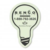 Custom Glow in the Dark Light Bulb Magnets